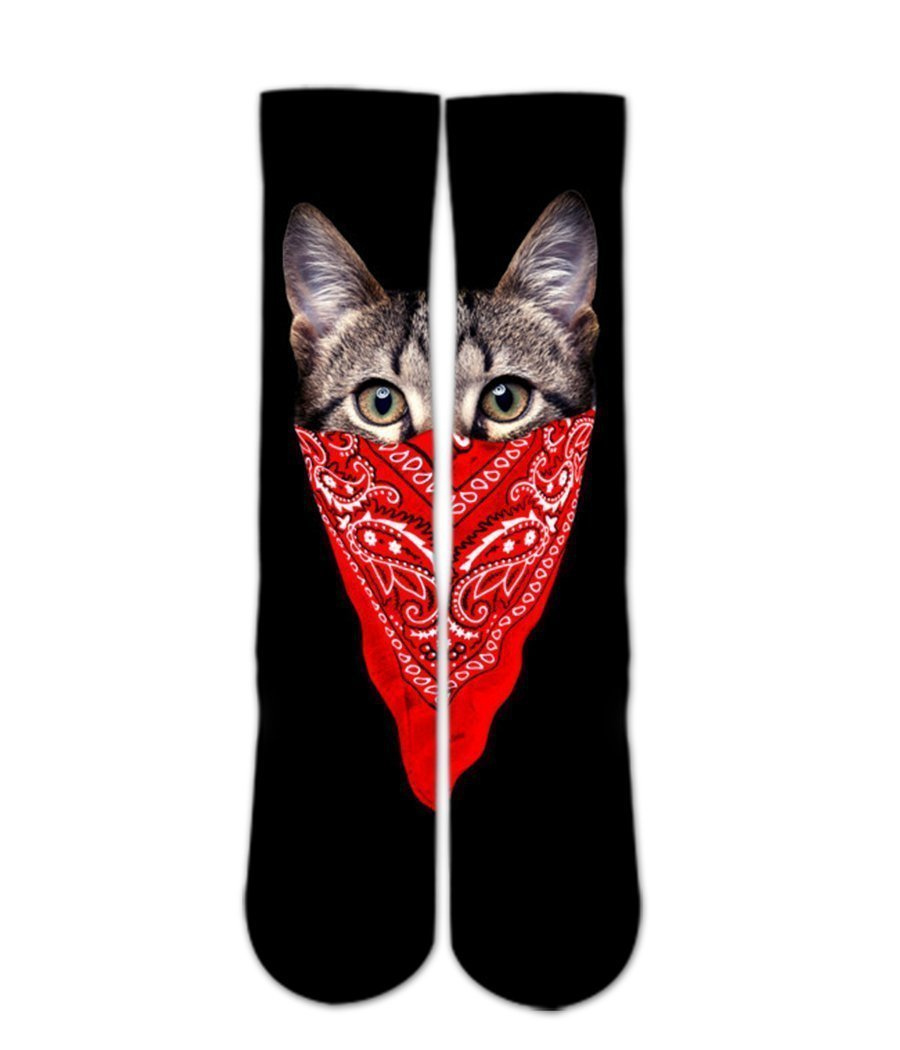 My cat is gangster sock design-Custom Elite Crew socks - DopeSoxOfficial