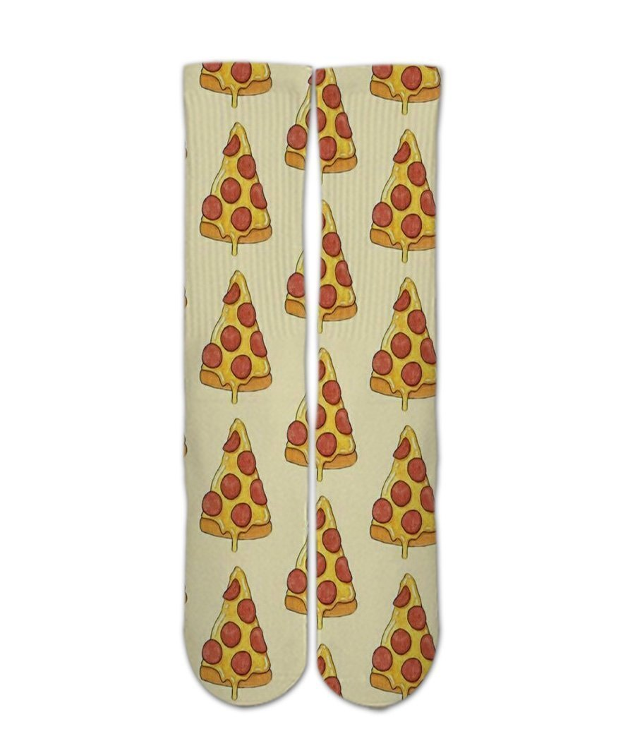 Pizza pattern printed crew socks - DopeSoxOfficial