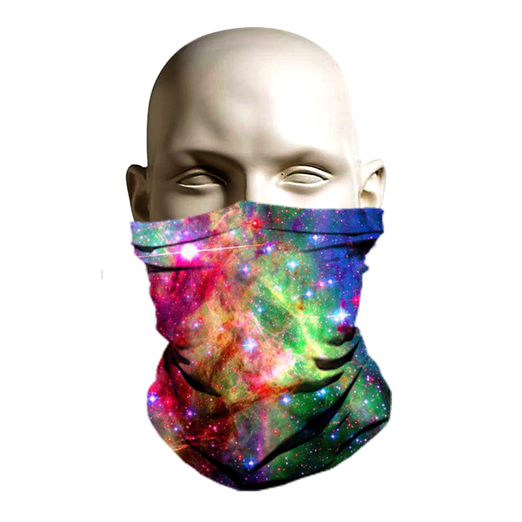 Face Mask - Rainbow Galaxy Design