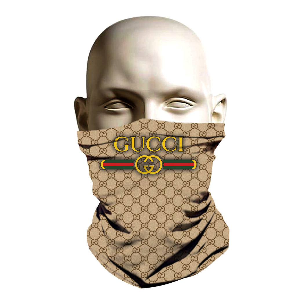 Gucci Brown Monogram Face Mask