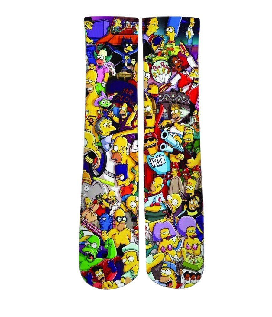 Cartoon Socks - The Simpsons mash up printed crew socks