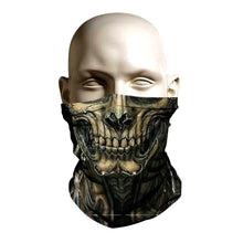 Load image into Gallery viewer, Ski Mask face shield - Alien Skull Creature design
