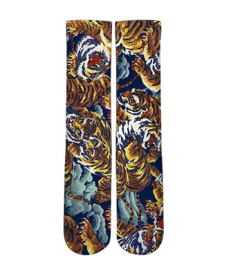 Versace Inspired tiger pattern printed graphic socks - DopeSoxOfficial