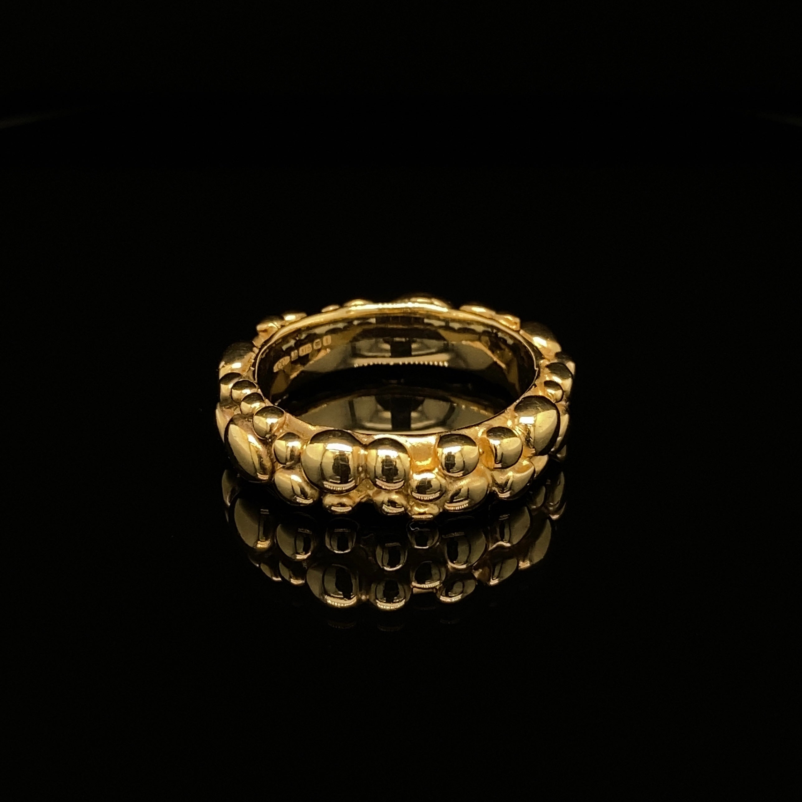 9ct Gold Wide Bubble Band