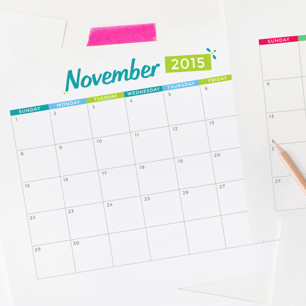 Editable Calendar 2015 By The Month/page/2 | Search Results | Calendar ...