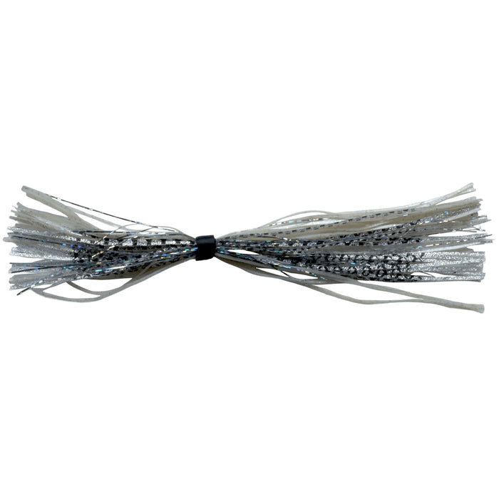 Banded Silicone Spinnerbait Skirts-Silver Fishscale