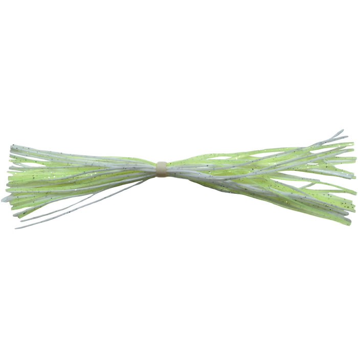BandedSilicone Spinnerbait Skirts-White/Chartreuse
