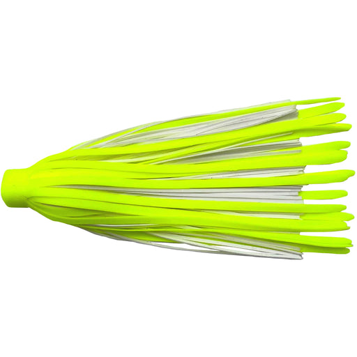 Quick Silicone Rubber Spinnerbait Skirts-White/Chartreuse