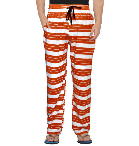 Orange Striped White Pyjama