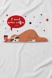 FflirtyGo I Need Some Coffee Printed Top and Pyjama Set