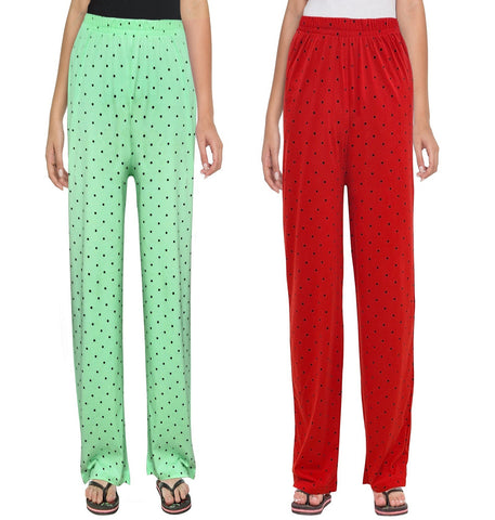 Red and Green Polka Pyjama Combo