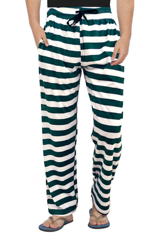 Green and White Stripe Pyjama