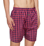 Premium Boxer Red & Navy Check