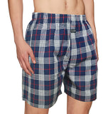 Premium Boxer Navy, Red & White Check