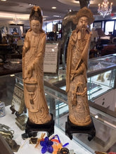 Load image into Gallery viewer, Antique Ivory Asian Statues