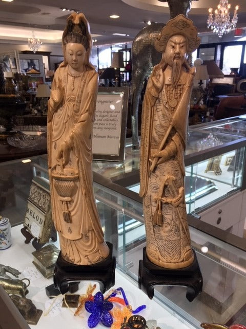 Antique Ivory Asian Statues