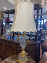 Load image into Gallery viewer, Brass & Crystal Lamp