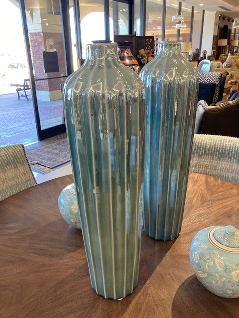 Tall Blue Jars