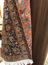"Load image into Gallery viewer, Silk and Wool Hand Knotted Rug from India 7'9"" x 10'"