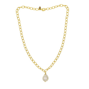 Collier doré perle simple Jane