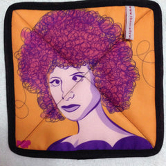 Permanent Babs Pot Holder from The Scallywag Society featuring Barbra Streisand by PopHeavy