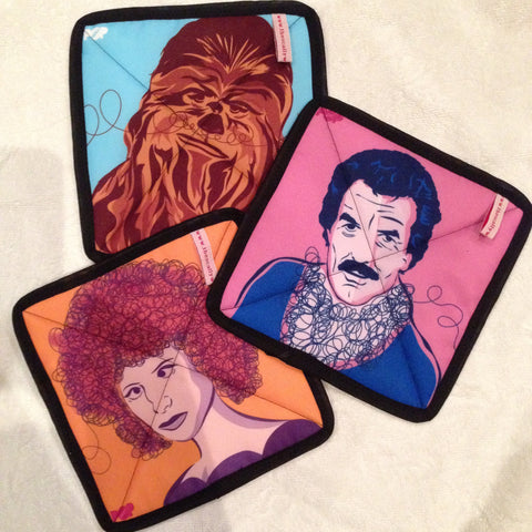 3 Degrees of Hairspiration Pot Holders from The Scallywag Society
