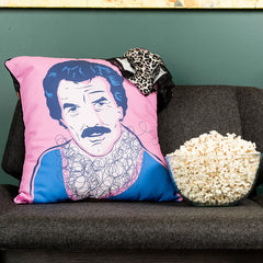 Tom Hearts a V-Neck cushion featuring Tom Selleck