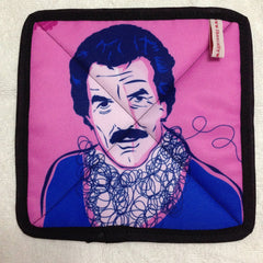 Tom Hearts a V-Neck Pot Holder from The Scallywag Society featuring Tom Selleck by PopHeavy