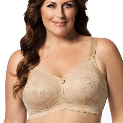 ELILA - 1303 - Embroidered Lace Non-Underwired Bra