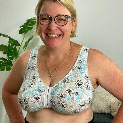 LEADING LADY - 110LDP - Front Opening Non-Underwired Leisure Bra