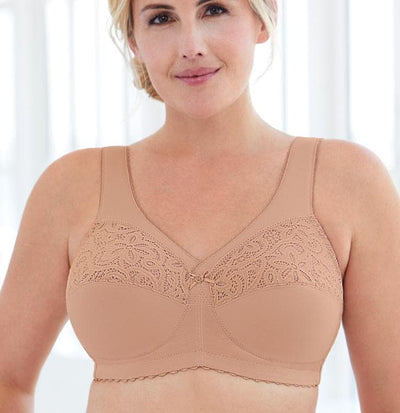 GLAMORISE - 1001 - Magic Lift Cotton Full Figure Non-Underwired Bra