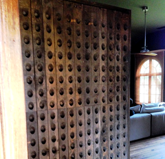 Flinders kitchen with French riddling rack bespoke wall