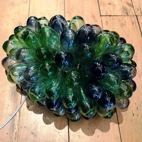 Syrian Glass Cluster Lamp - Blue Green