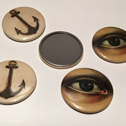 John Derian New York Mirror Button - 1pce