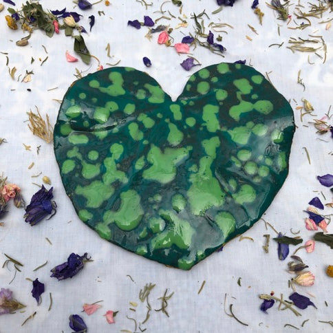 Heart shaped Leaves by French ceramic artist Fabienne Auzolle