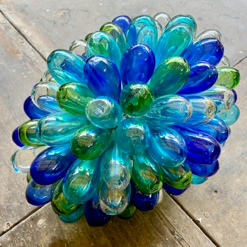 Syrian Glass Cluster Lamp - Turquoise/ Blue/ Green/ Transparent