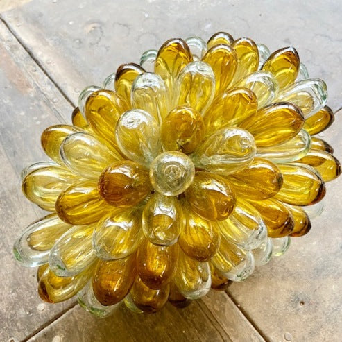 Syrian Glass Cluster Lamp -Transparent/Gold