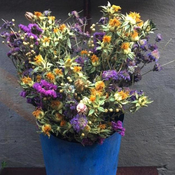 Fresh dried flower bunch - Wild Garden bouquet
