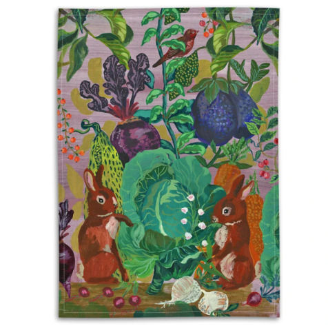 Nathalie Lete Tea Towel - The Rabbits