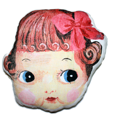 Nathalie Lete My Doll Face pillow