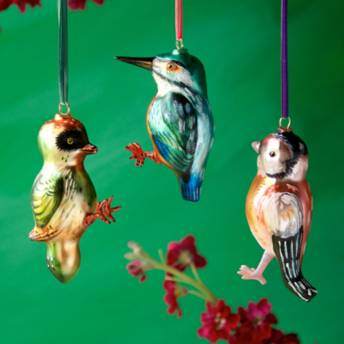 Nathalie Lete Glass Christmas ornaments - Birds