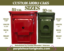Load image into Gallery viewer, Thin Red Line Distressed Custom Ammo Can