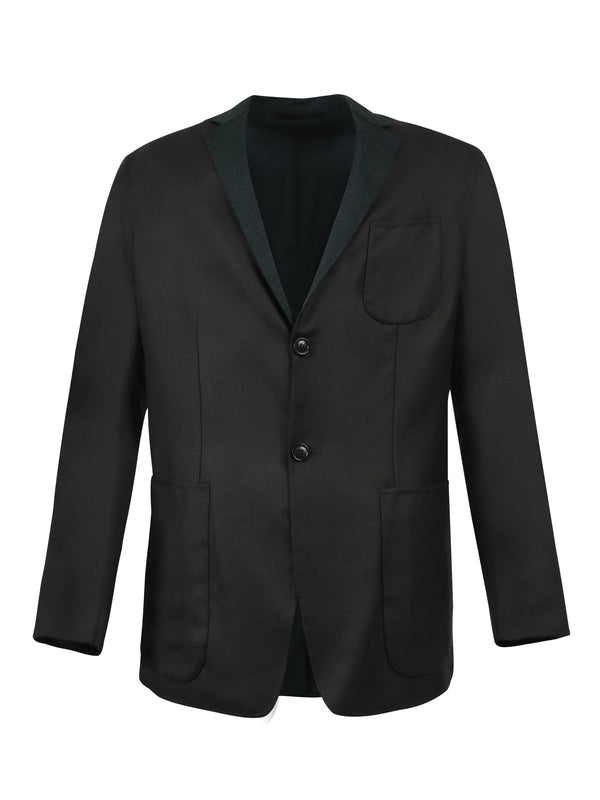 Notched-lapel Single-breasted Blazer