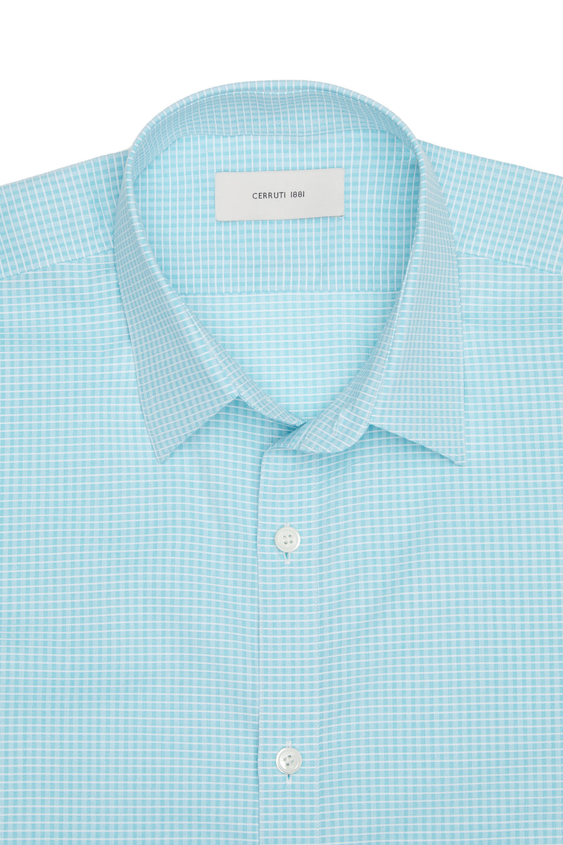 Tattersall Check Short-Sleeve Button-Up