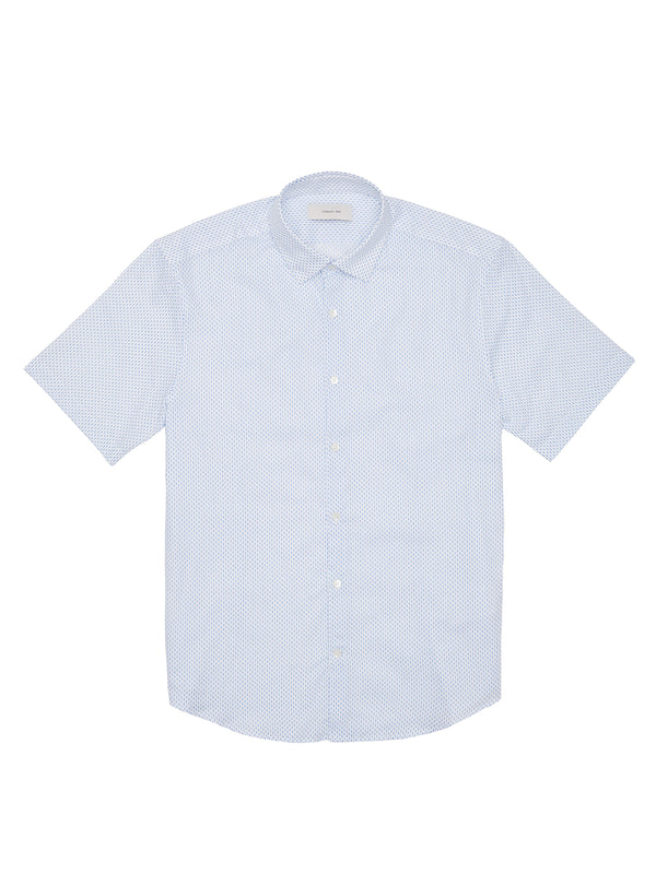 Droplet Pattern Short Sleeve Button-Up Shirt