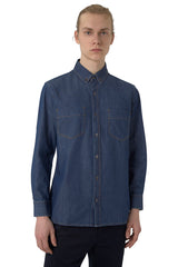 Rinse Wash Denim Button-Up