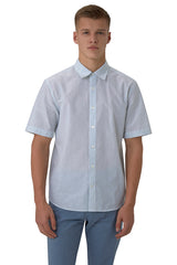 Linen Blend Short-Sleeve Button-Up