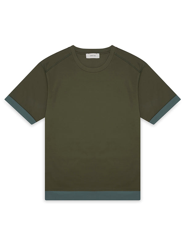 Mercerized Cotton Reattached Hem T-Shirt