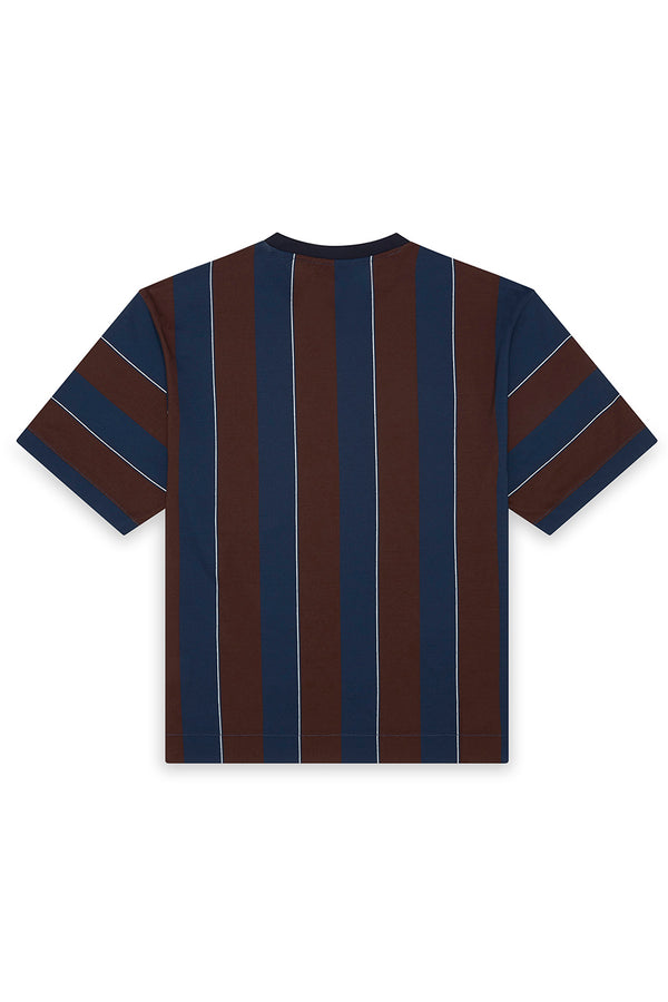 Mercerized Cotton Vertical Striped T-Shirt