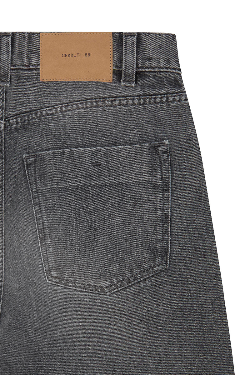 Rinse Wash Faded Denim Jeans